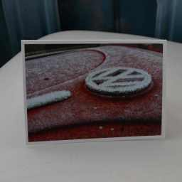 christmas card - vw beetle