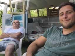 Restoring an old VW Bus   father-son-project