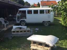 Dismantled 1967 Volkswagen T1 Bus