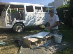 1967 Volkswagen Bus - Wet Sanding the Engine Lid