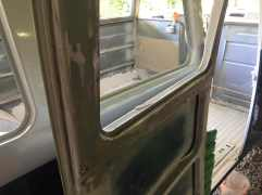sanding-down-window-frames-vw-splitbus