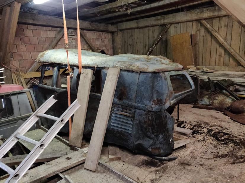 1952-Volkswagen-Barndoor-Forest-wreck-find